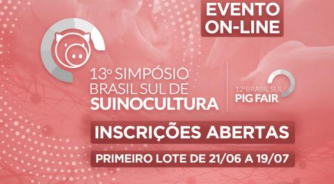 Nucleovet abre inscrições para o 13º Simpósio Brasil Sul de Suinocultura