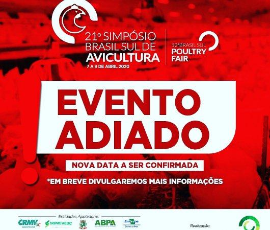 COMUNICADO NUCLEOVET  - 21º Simpósio Brasil Sul de Avicultura (SBSA)