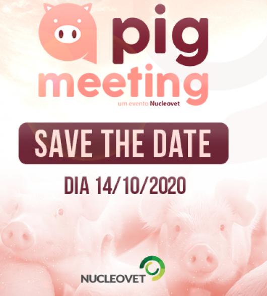 Pig Meeting : Nucleovet promove encontro online da cadeia de suínos